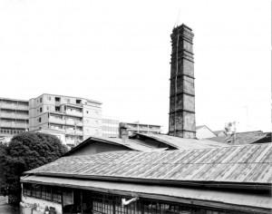 窯屋と煙突